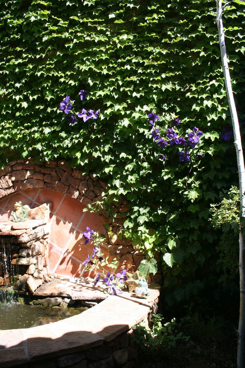 Deco vines with some clematis in the mix 2014