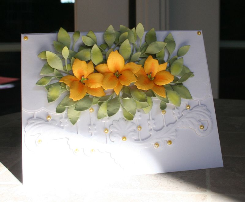 Craftynikky yellow lily card 3
