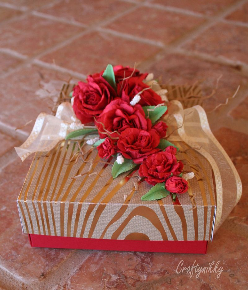Craftynikky rose gift box 1