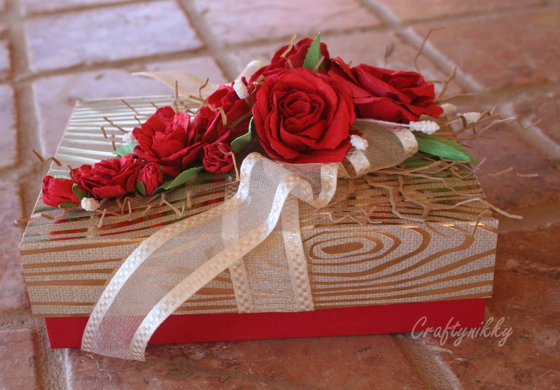 Craftynikky rose gift box 4