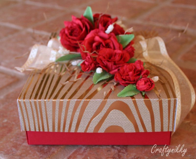 Craftynikky rose gift box 7