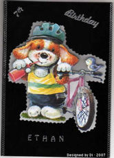 Dis_3d_dog_and_bike_card