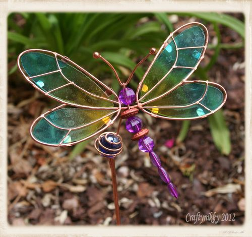 Dragonfly garden decoration