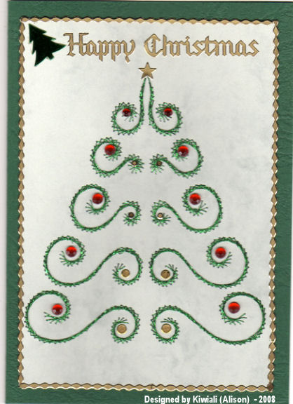 Kiwiali stitched Christmas tree