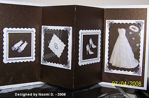 Naomi d - inside wedding card