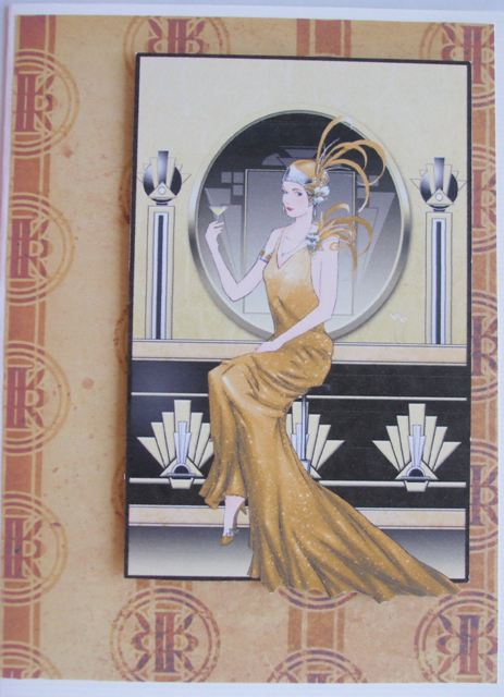 Art deco lady in gold.