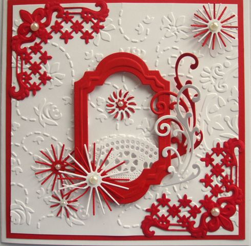 Red and White frame